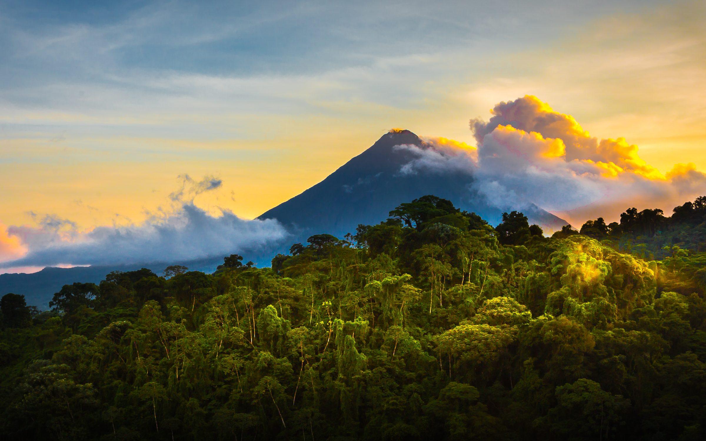 Kostaryka i Nikaragua wulkan XL