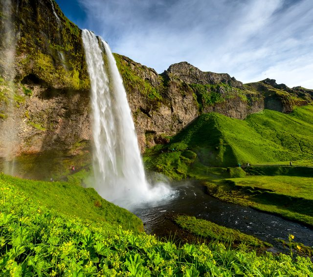 Seljalandsfoss one of the most famous Icelandic waterfall