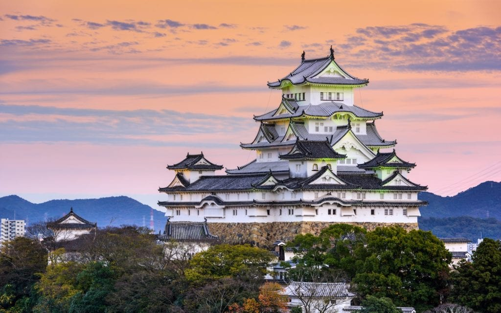Japonia zamek Himeji