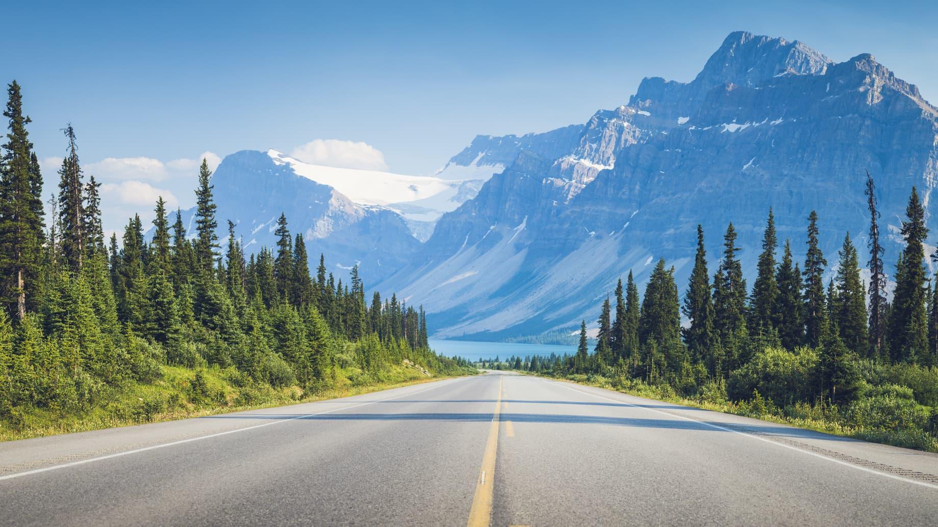 Kanada i Alaska tło droga