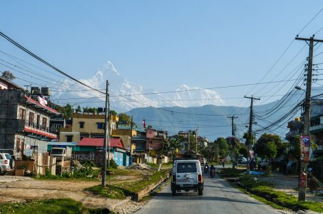 Nepal Pokhara ulice