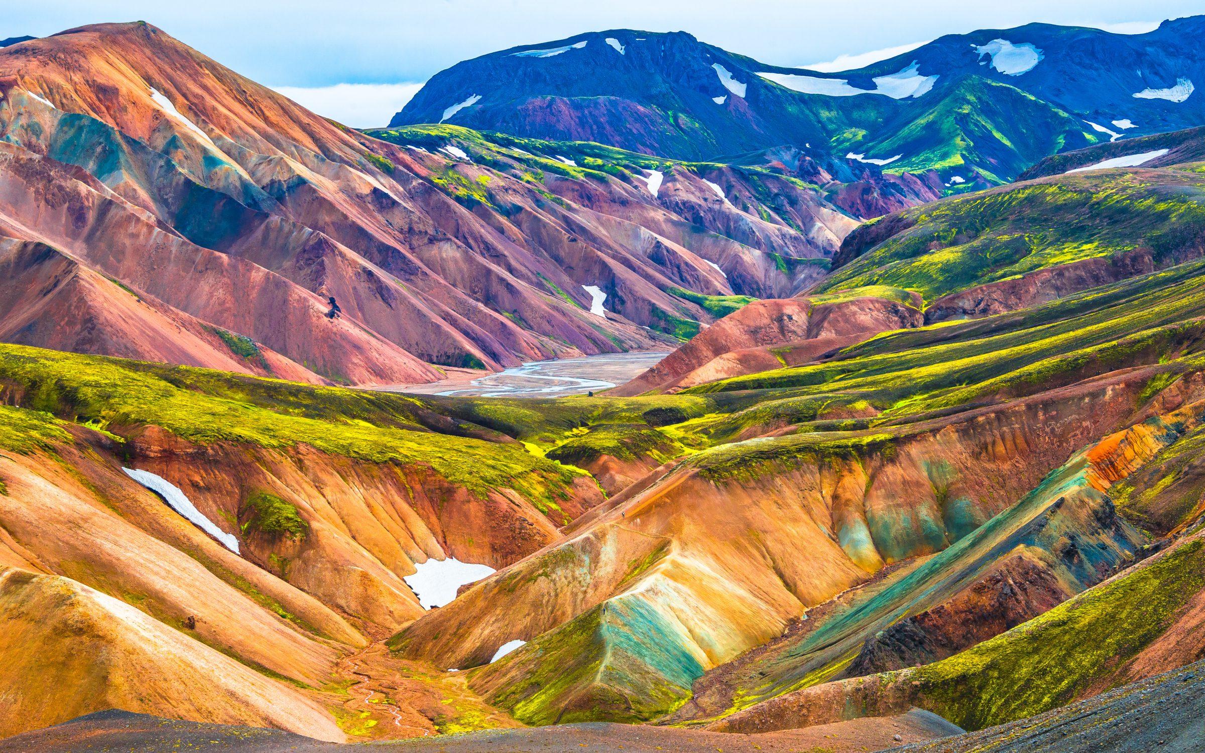 islandia interior panorama tło