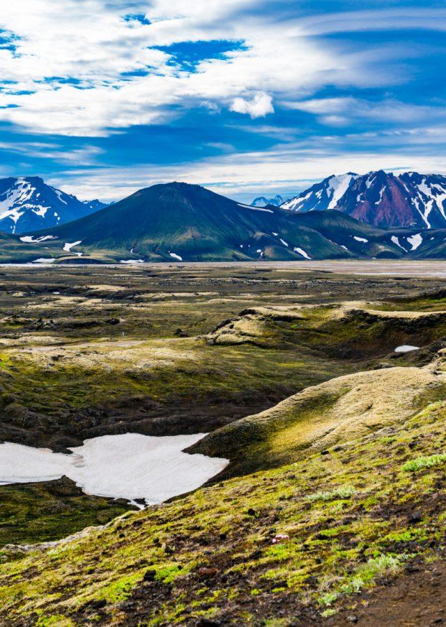 Islandia Interior tło