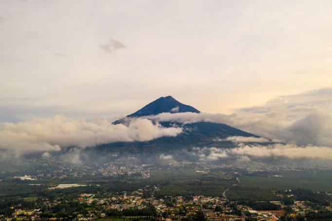 Meksyk Belize Gwatemala wulkan tło