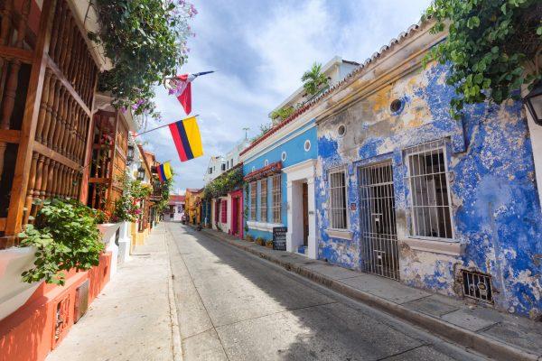 Kolumbia Cartagena uliczka