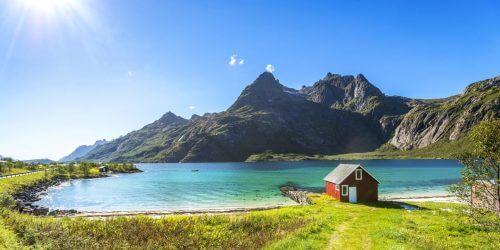 Norwegia Lofoty tło