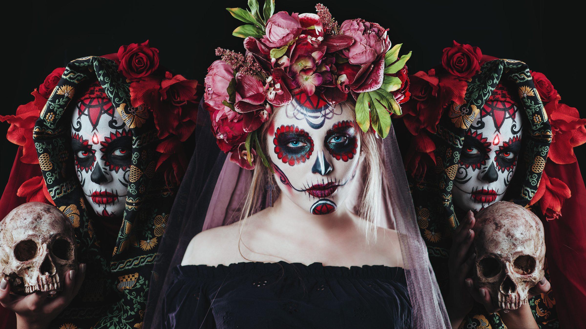 Meksyk Santa Muerte na tło