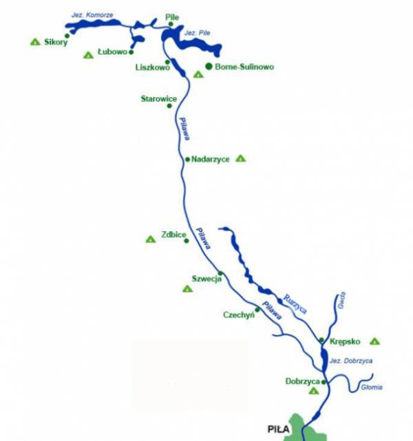 Spływ wielkanocny trasa
