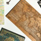 Drewniana Mapa Świata 2