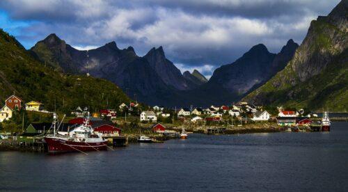Góry z domami w Europie